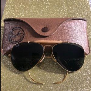 Ray-Ban Aviator Outdoorsman Gold Sunglasses